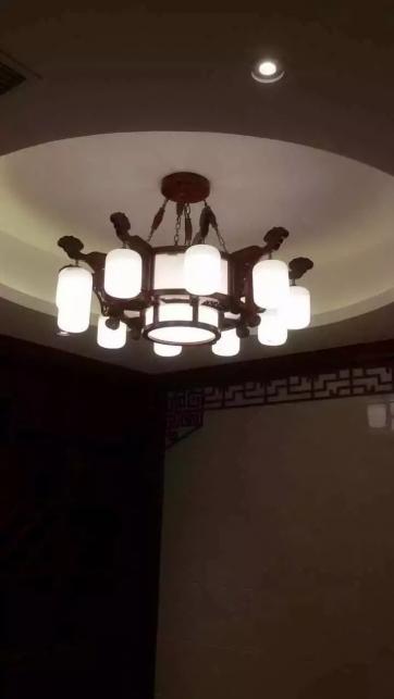 广东红木云石灯别墅豪宅案例
