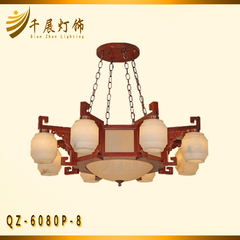 中式会所红木灯