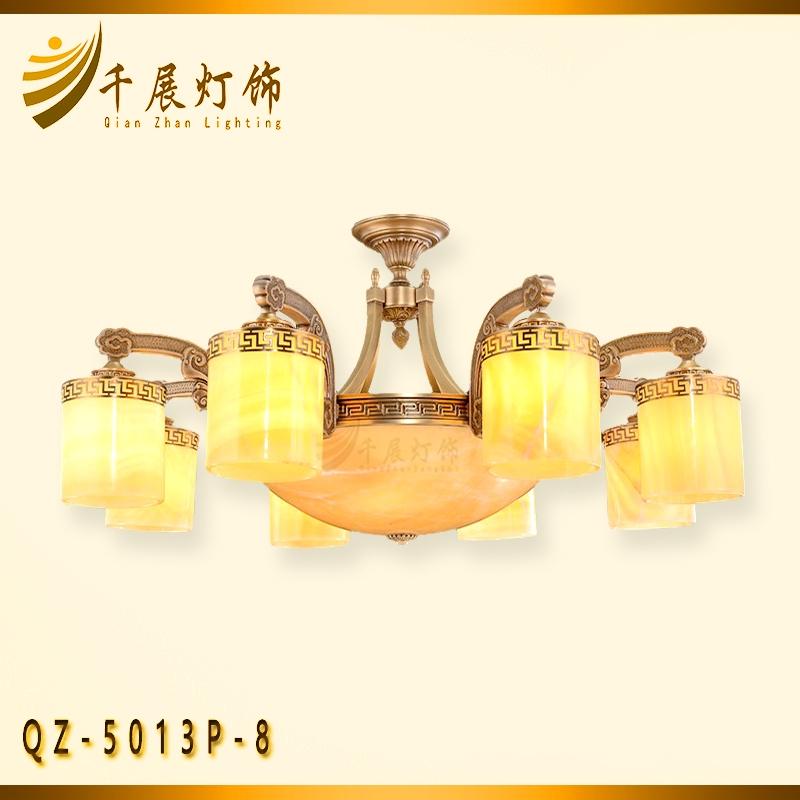 黄色石头吊灯