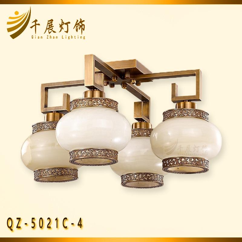 中式玉石吸顶灯