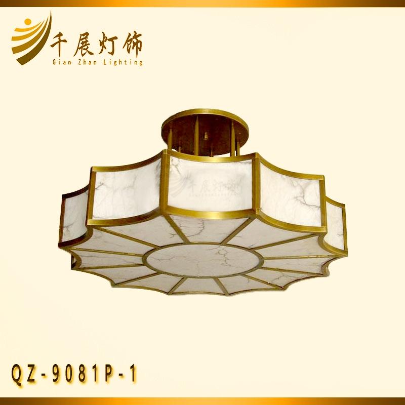 客厅全铜半吊灯