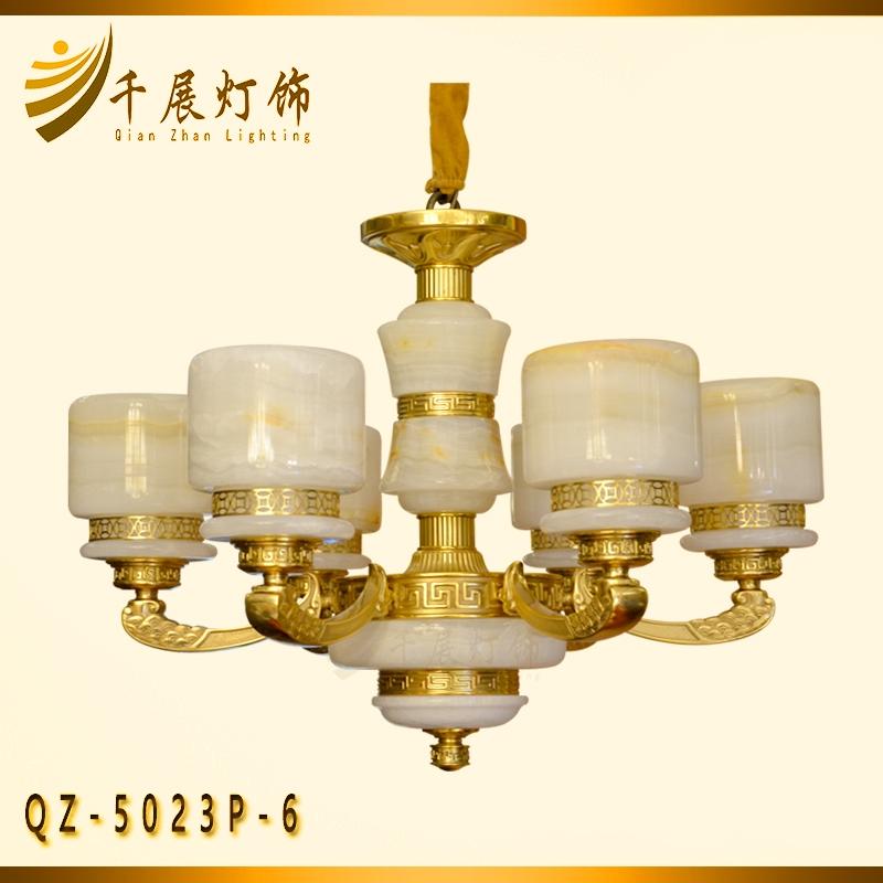中式玉石灯