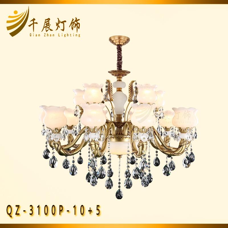 水晶吊灯全铜水晶灯客厅水晶吊灯别墅水晶灯